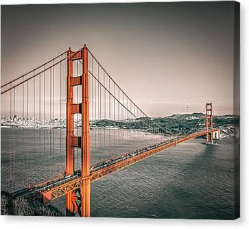 Golden Gate Bridge Selective Color Canvas Print by James Udall