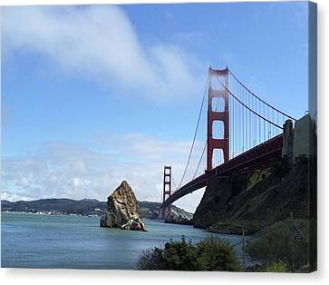 Canvas Print featuring the photograph Golden Gate Bridge by Sumoflam Photography