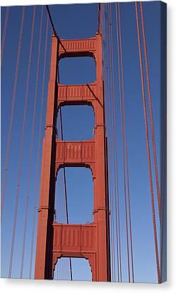 Golden Gate Bridge Tower Canvas Print by Garry Gay