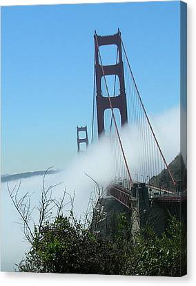 Golden Gate Bridge Towers In The Fog Canvas Print