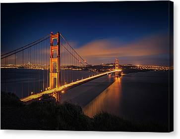 Golden Gate Canvas Print by Edgars Erglis