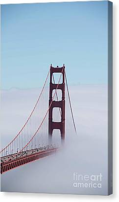 Canvas Print featuring the photograph Golden Gate Fogged - 3 by David Bearden