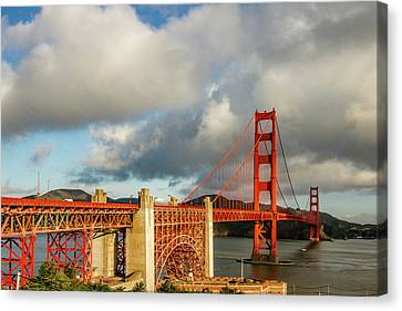 Canvas Print - Golden Gate From Above Ft. Point by Bill Gallagher