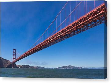 Golden Gate From The Bay Canvas Print by Scott Campbell