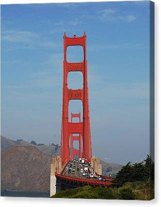 Golden Gate Head On Canvas Print