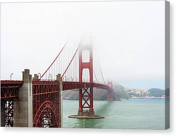 Golden Gate In The Fog Canvas Print