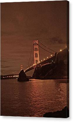 Canvas Print - Golden Gate Night  by April Bielefeldt