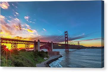 Golden Gate Sunset Canvas Print by Phil Fitzgerald