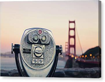 Golden Gate Sunset - San Francisco California Photography Canvas Print by Melanie Alexandra Price
