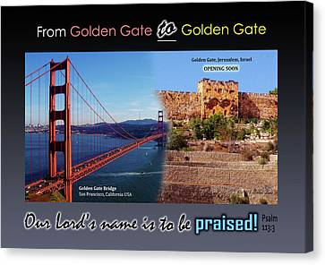 Golden Gate To Golden Gate Canvas Print