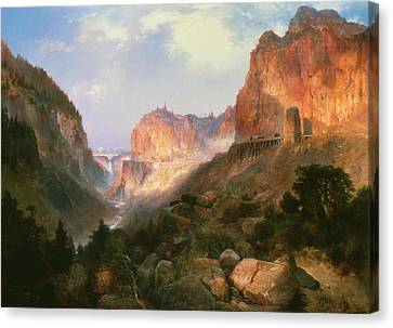 Moran Canvas Print - Golden Gate Yellowstone National Park by Thomas Moran