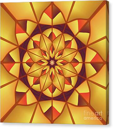 Golden Geometric Flourish Canvas Print by Gaspar Avila
