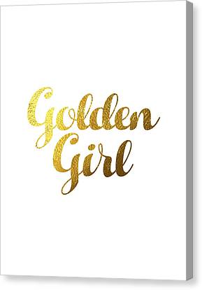 Golden Girl Typography Canvas Print by BONB Creative