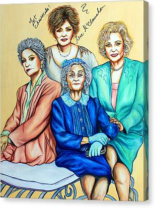 Golden Girls Canvas Print by Joseph Lawrence Vasile
