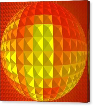 Golden-globe Canvas Print by Ramon Labusch