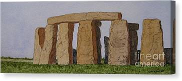 Golden Glow- Stonehenge Canvas Print