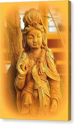 Golden Goddess Statue Canvas Print