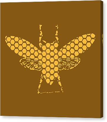 Golden Hex Bee Canvas Print by Karl Addison