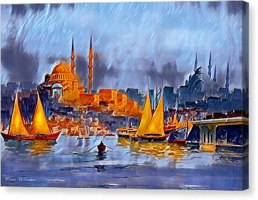 Golden Horn Of Istanbul Canvas Print