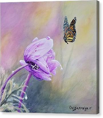 Canvas Print featuring the painting Golden Hour by Christie Minalga