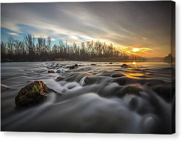 Canvas Print featuring the photograph Golden Hour by Davorin Mance