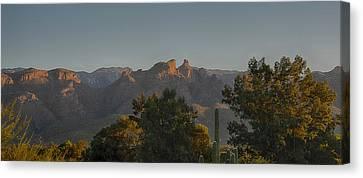 Canvas Print featuring the photograph Golden Hour On Thimble Peak by Dan McManus