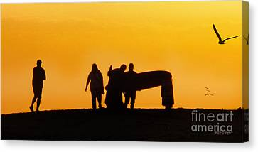 The Golden Hour Canvas Print by Rhonda Strickland