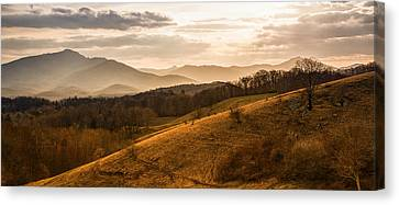 Grandfather Mountain Sunset - Moses Cone Blue Ridge Parkway Canvas Print