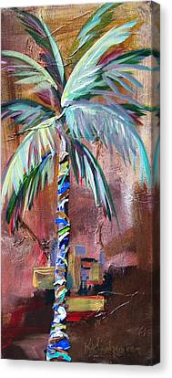 Golden Jasper Palm Canvas Print by Kristen Abrahamson