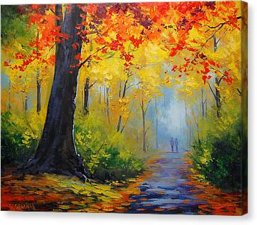 Maple Canvas Print - Golden Landscape by Graham Gercken