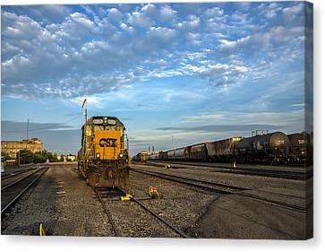 Csx Train Canvas Print - Golden Light by Mark Papke