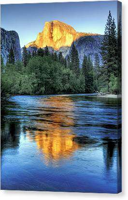 Golden Light On Half Dome Canvas Print