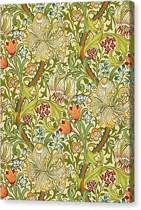 Golden Lily Canvas Print by William Morris