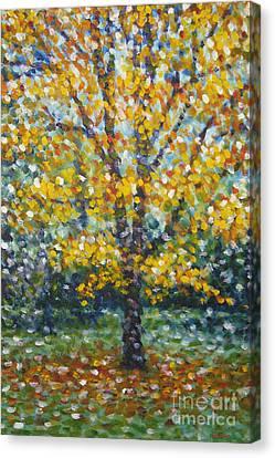 Golden Maple Canvas Print
