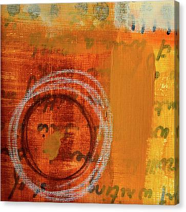 Canvas Print featuring the painting Golden Marks 11 by Nancy Merkle
