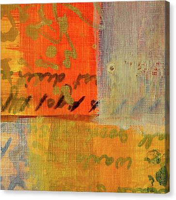 Canvas Print featuring the painting Golden Marks 12 by Nancy Merkle