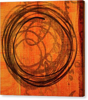 Canvas Print featuring the painting Golden Marks 9 by Nancy Merkle