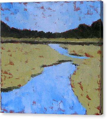 Golden Marsh Canvas Print by Donna Thomas