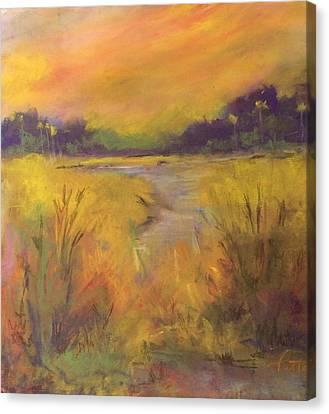 Golden Marsh Canvas Print