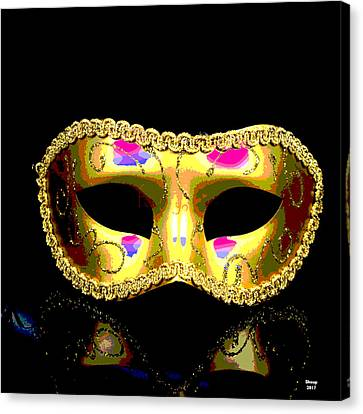 Booze Canvas Print - Golden Mask by Charles Shoup