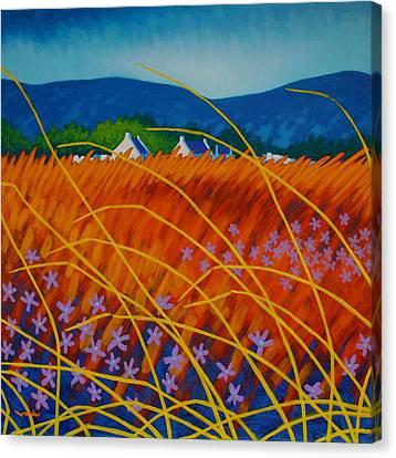 Nature Poster Art Canvas Print - Golden Meadow by John  Nolan