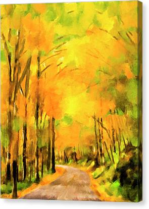 Canvas Print featuring the painting Golden Miles - Ode To Appalachia by Mark Tisdale