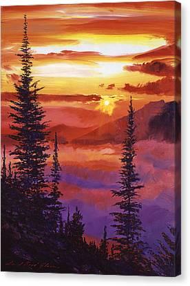 Golden Moment Canvas Print by David Lloyd Glover