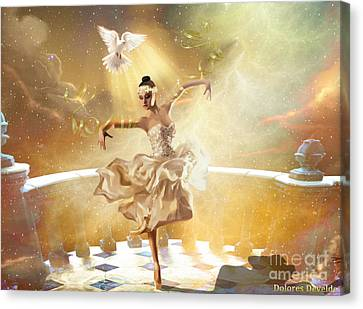 Presence Canvas Print - Golden Moments by Dolores Develde