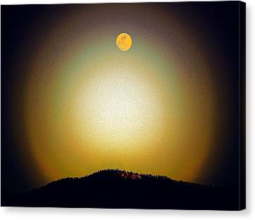 Golden Moon Canvas Print by Joseph Frank Baraba