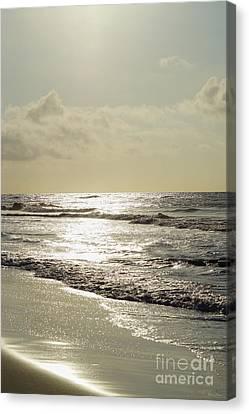 Golden Morning At Folly Canvas Print by Jennifer White
