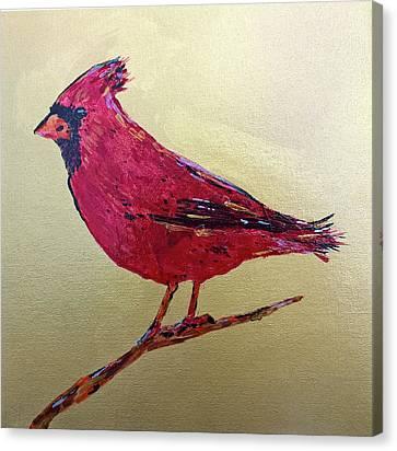 Golden Morning Cardinal Canvas Print