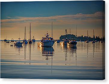 Canvas Print featuring the photograph Golden Morning In Tenants Harbor by Rick Berk