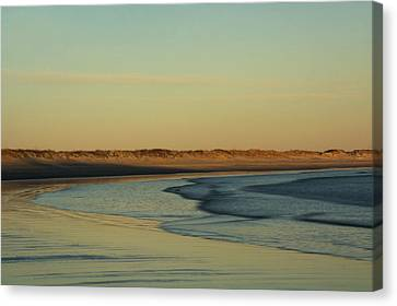 Golden Morning On Rhode Island Coast Canvas Print