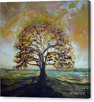 Golden Oak Canvas Print by Michele Hollister - for Nancy Asbell